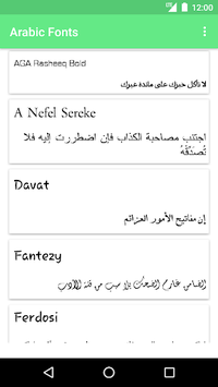 Arabic Fonts for FlipFont APK : Download v1 4 for Android at