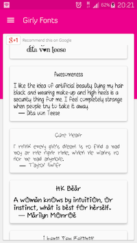 Girly Fonts for FlipFont - works on Samsung Galaxy APK : Download v1