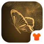 Glitter Golden - Butterfly Theme for Android APK