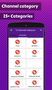 App for Videocon d2h TV Channels List-All Channels APK