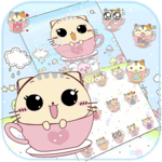 Kitty Love Cup Cat Theme APK