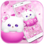 Kitty Theme Cup Cat Wallpaper APK icon