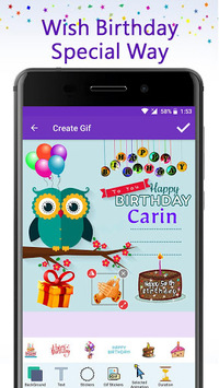 Birthday GIF Maker with Name & Photo APK : Download v1 1 for