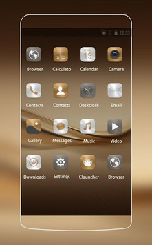 Theme for Huawei P8 & P10 Gold Wallpaper Icon Pack APK : Download v1