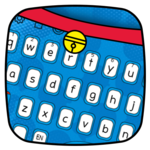 Dore Meow Blue  Cat keyboard APK icon