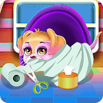 Fluffy Puppy Play and Care APK icon