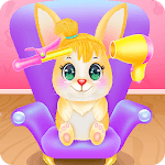 Cute Bunny Caring and Dressup APK icon