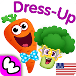 Funny Food DRESS UP games for toddlers and kids!😎 APK icon