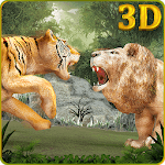 Wild Big Cats Fighting Challenge 2: Lion vs Tigers APK icon