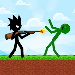 Stickman Zombie Shooter: Fight Platformer APK icon