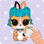 PETS Coloring : Yes.Pixel Art by Number APK icon