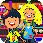 My Pretend Mall - Kids Shopping Center Town Games APK icon