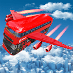 Flying Bus Driving simulator 2019: Free Bus Games APK icon