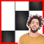 21 Savage a lot  J. Cole Piano Black Tiles APK icon