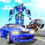 US Police Muscle Car Transform Bike Robot Games APK icon