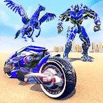 US Police Flying Horse Robot Bike Transform Game APK icon