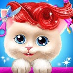 Pet Kitty Hair Salon Hairstyle Makeover APK icon