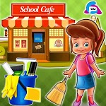 High School Cafe Clean: Cleaning Games 2019 APK icon