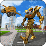 Flying Robot Truck: Real Transforming APK icon