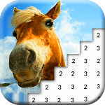 Horses Pixel Art: Paint Pony Color By Number Game APK