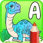 Cute Animated Dinosaur Coloring Pages APK icon