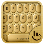 3D Gold Keyboard Theme APK
