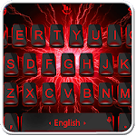 Black Red Thunder Keyboard Theme APK icon