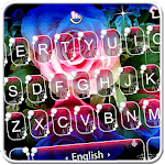 Live 3D Shining Colorful Rose Keyboard Theme APK icon