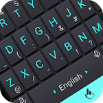 Neon Blue Power Button Keyboard Theme APK