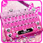 Pink Glitter Minny Keyboard Theme APK
