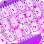 Purple Diamond Love Keyboard Theme APK