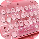 Rose Gold Water Droplets Keyboard Theme APK