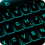 Simple Neon Blue Future Tech Keyboard Theme APK