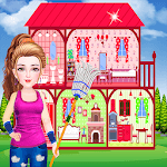 Doll House Cleaning Game for girls APK icon