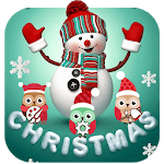 Cute Merry Christmas Snowman Theme APK