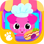 Cute & Tiny Food Trucks - Cooking with Baby Pets APK icon