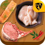 Meat, Seafood, Poultry, Pork & Egg Recipes Book APK