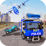 US Police Car Transport Truck 2019 APK icon