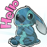 Cute Blue Koala Stitch Stickers for WhatsApp APK