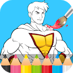 Superhero Coloring Pages APK icon