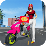 Moto Bike Pizza Delivery 2019 – Girl Food Game APK