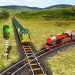 Indian Train Racing Games 3D - Multiplayer APK icon