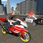 Real US Police Bike Chase in City APK icon
