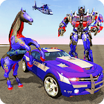 Multi Robot Transforming : Wild Horse Police Car APK icon