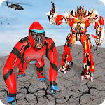 Gorilla Robot Transformation : Gorilla Attack 2018 APK icon