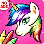 Unicorn Coloring Book - Games for Girls (No Ads)🎨 APK icon