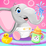 Baby Elephant Pet Care APK icon