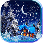 Snow Winter Night live wallpaper APK