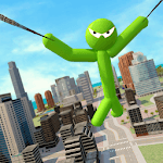 Green Hero Stickman Criminal Mafia APK icon