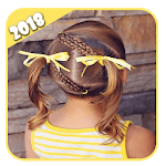 Hairstyles step by step for children :short hair APK icon